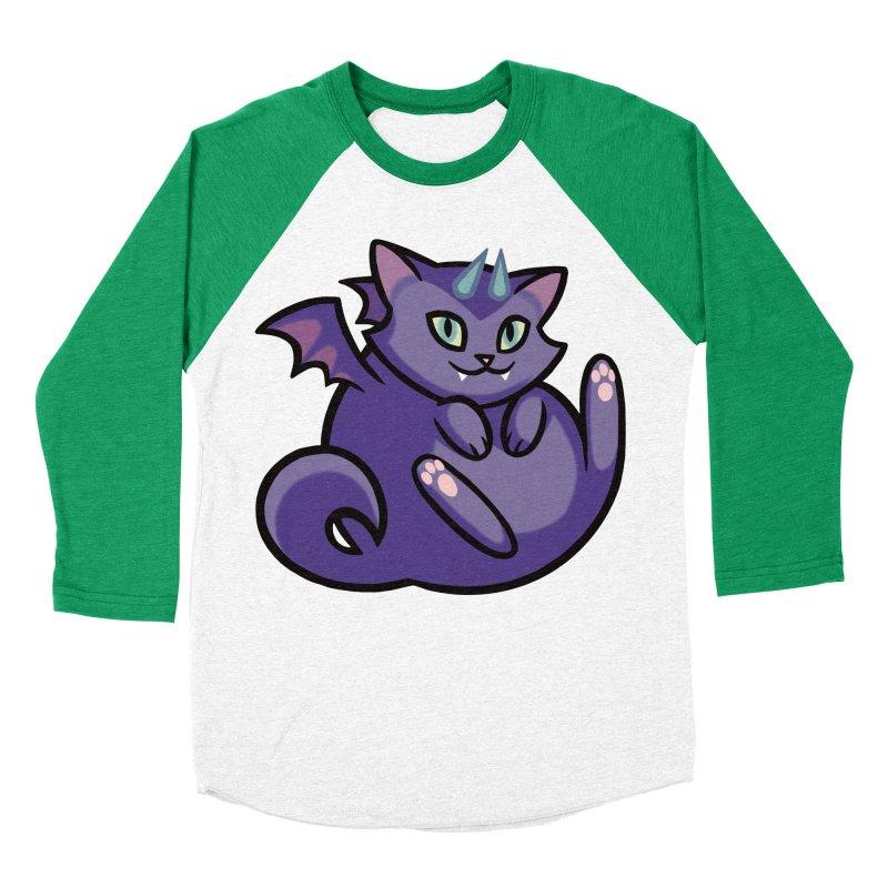 Demon Cat Women's Baseball Triblend T-Shirt by mirana's Artist Shop