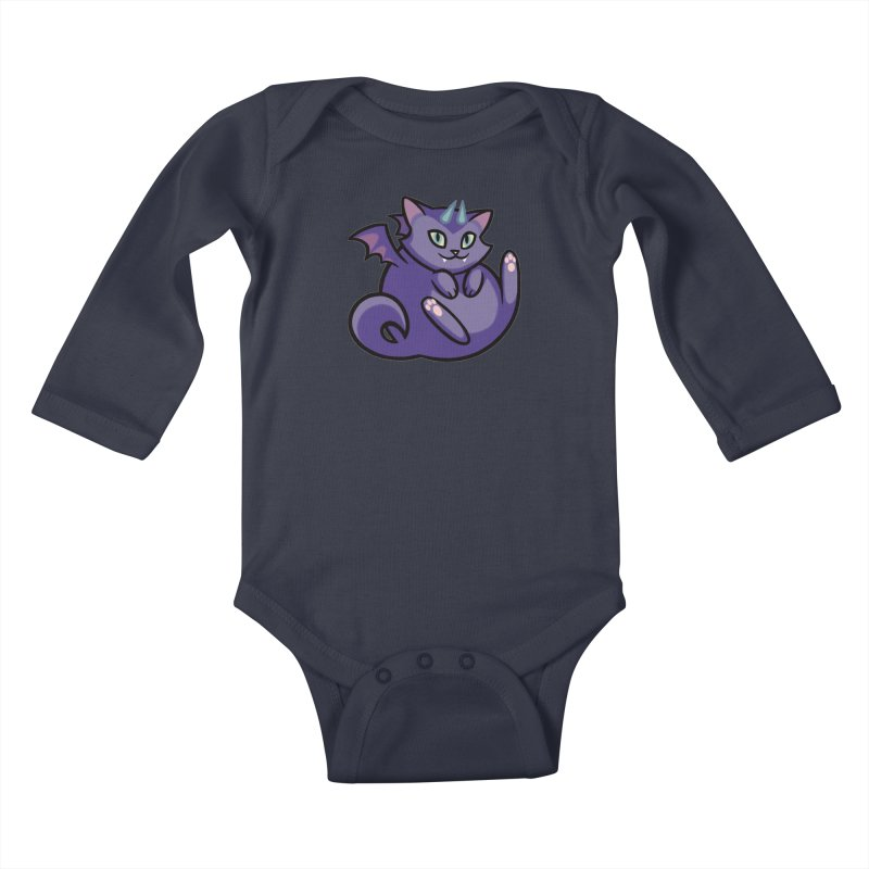 Demon Cat Kids Baby Longsleeve Bodysuit by The Art of Mirana Reveier