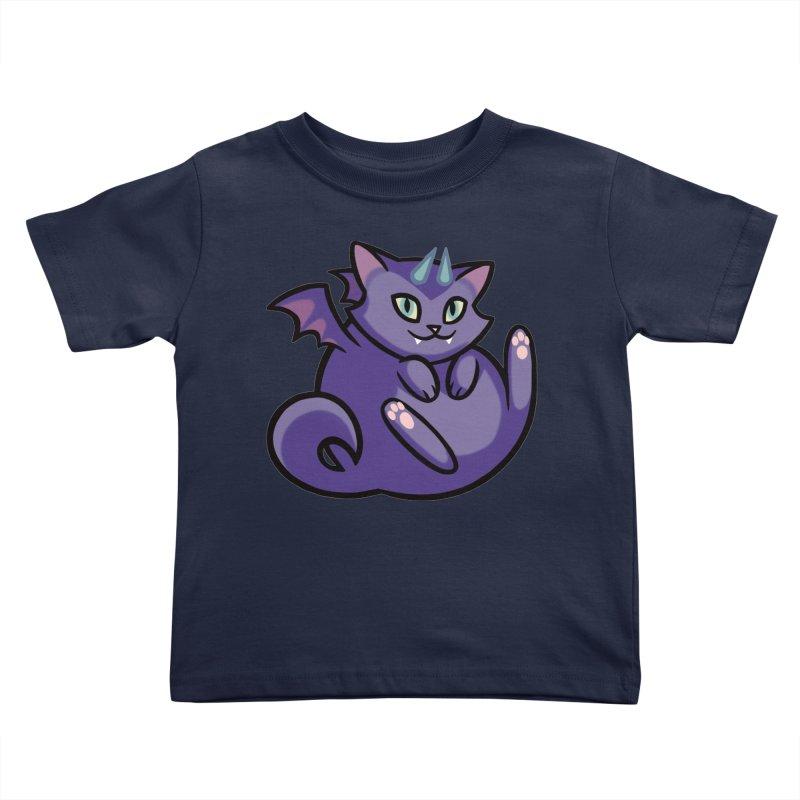 Demon Cat Kids Toddler T-Shirt by mirana's Artist Shop