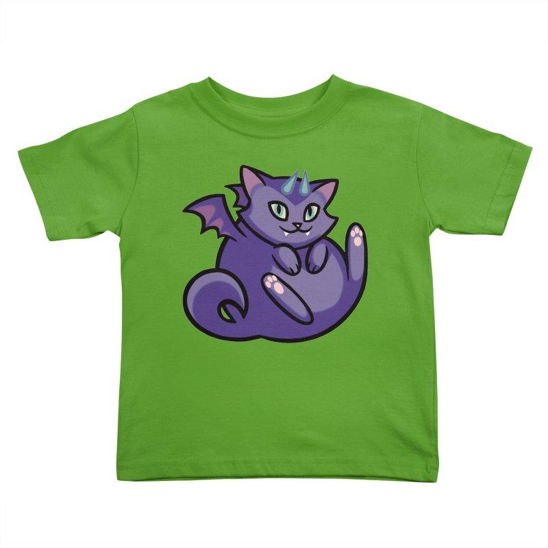 Demon Cat Kids Toddler T-Shirt by The Art of Mirana Reveier