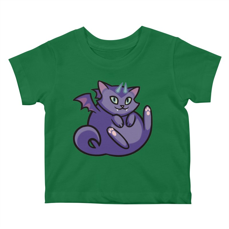 Demon Cat Kids Baby T-Shirt by The Art of Mirana Reveier