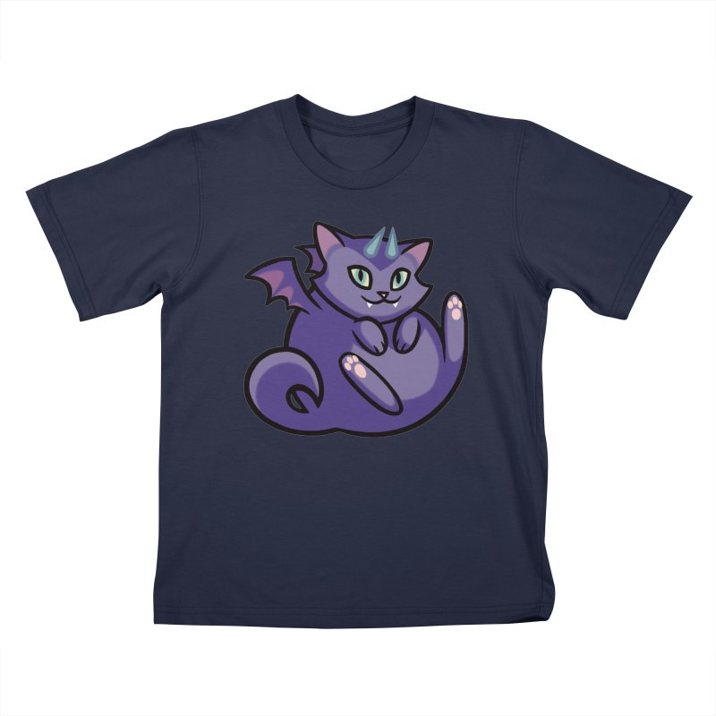 Demon Cat Kids T-Shirt by The Art of Mirana Reveier