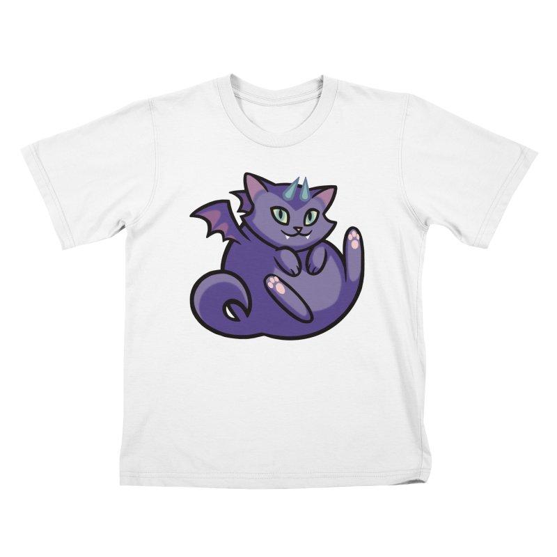Demon Cat Kids T-shirt by mirana's Artist Shop