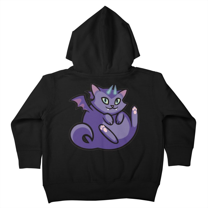 Demon Cat Kids Toddler Zip-Up Hoody by mirana's Artist Shop