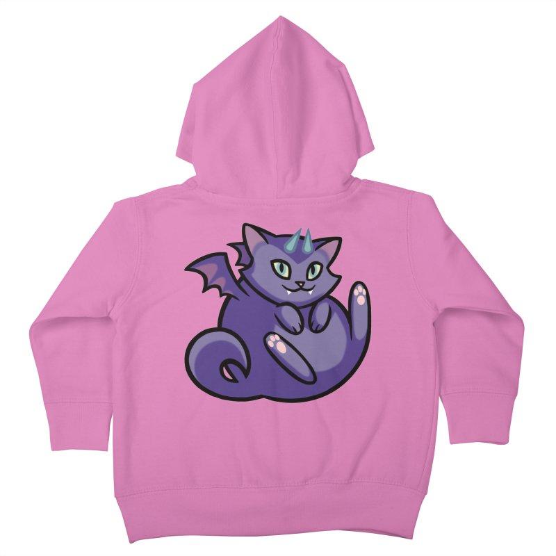 Demon Cat Kids Toddler Zip-Up Hoody by mirana's Artist Shop