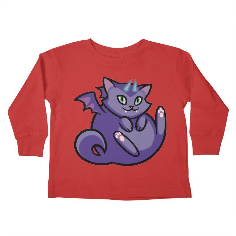 Demon Cat Kids Toddler Longsleeve T-Shirt by mirana's Artist Shop