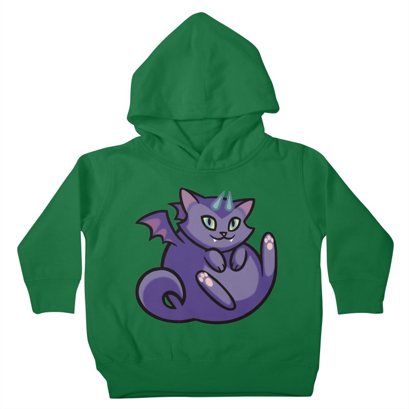 Demon Cat Kids Toddler Pullover Hoody by mirana's Artist Shop