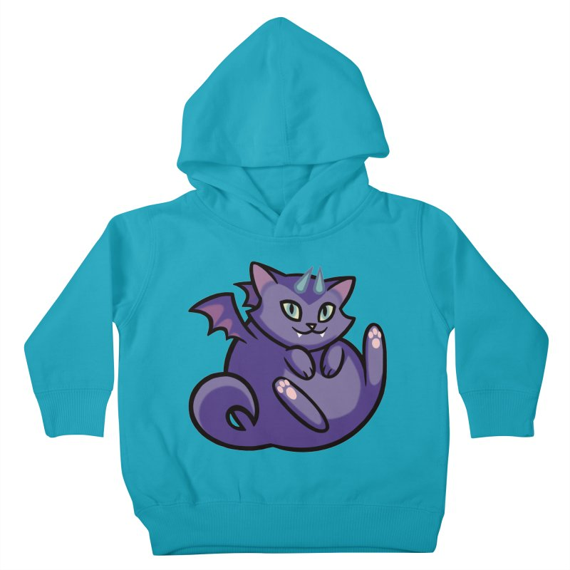 Demon Cat Kids Toddler Pullover Hoody by mirana's Artist Shop