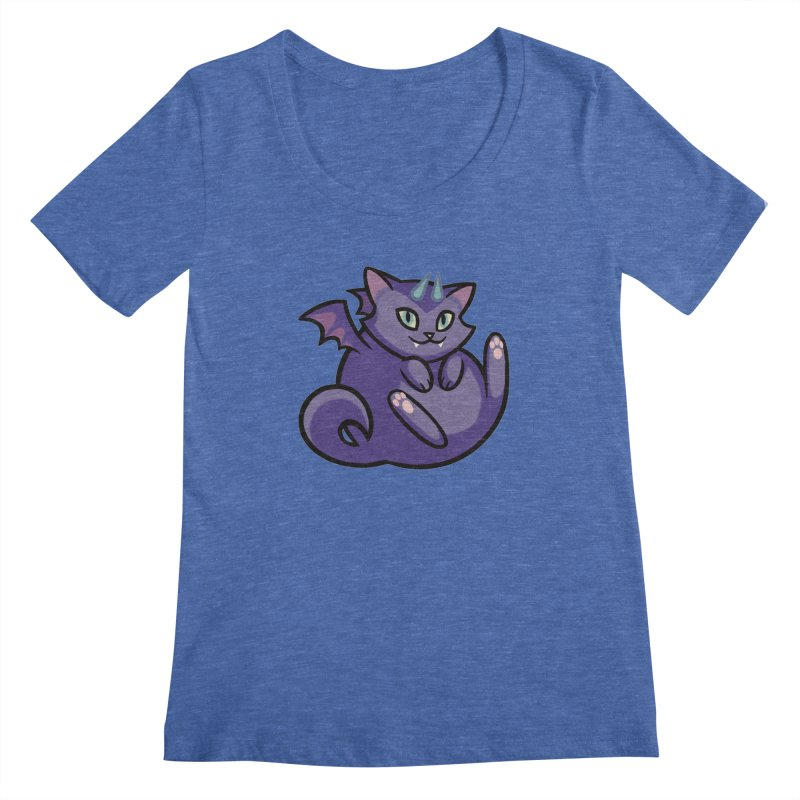 Demon Cat Women's Regular Scoop Neck by mirana's Artist Shop