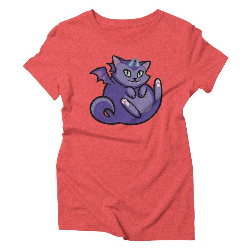 Demon Cat Women's Triblend T-Shirt by mirana's Artist Shop