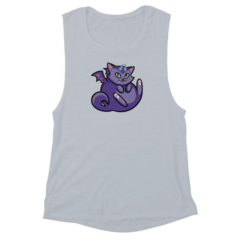 Demon Cat Women's Muscle Tank by mirana's Artist Shop