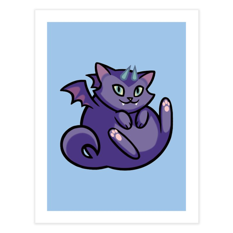 Demon Cat Home Fine Art Print by mirana's Artist Shop