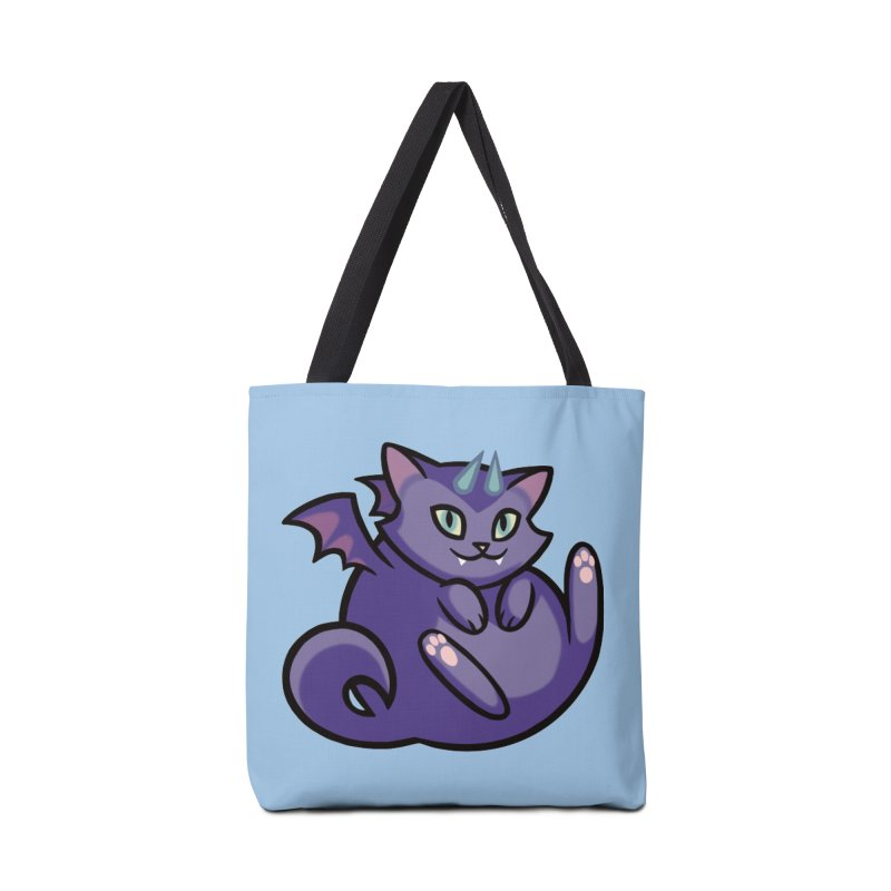 Demon Cat Accessories Tote Bag Bag by mirana's Artist Shop