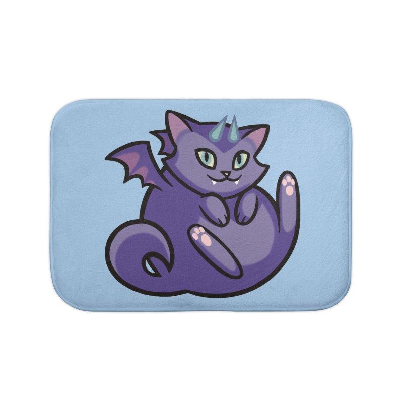Demon Cat Home Bath Mat by The Art of Mirana Reveier