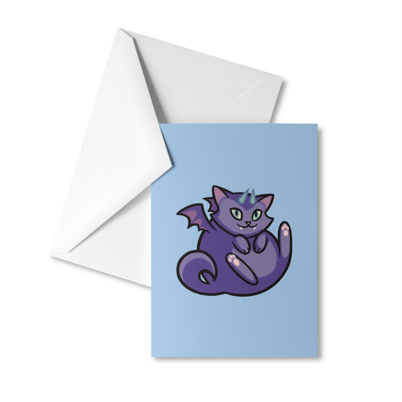 Demon Cat Accessories Greeting Card by The Art of Mirana Reveier