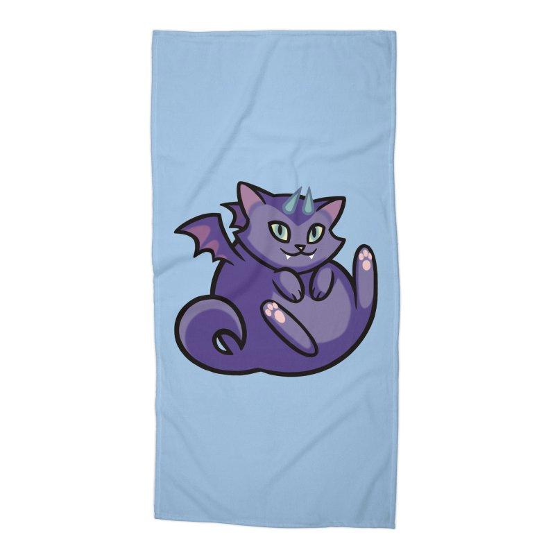 Demon Cat Accessories Beach Towel by The Art of Mirana Reveier