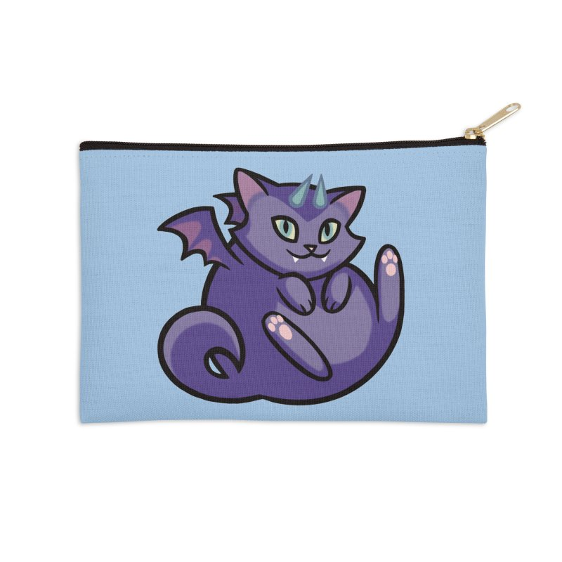 Demon Cat Accessories Zip Pouch by mirana's Artist Shop