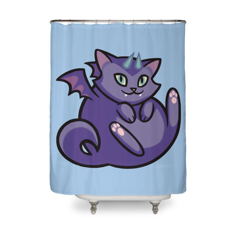 Demon Cat Home Shower Curtain by The Art of Mirana Reveier