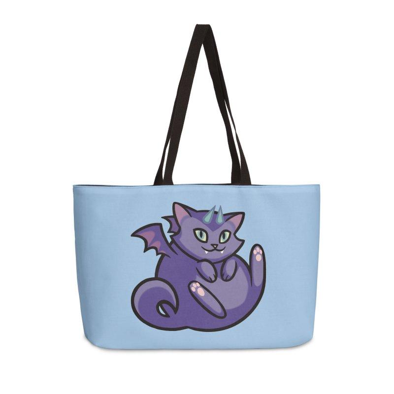 Demon Cat Accessories Weekender Bag Bag by mirana's Artist Shop