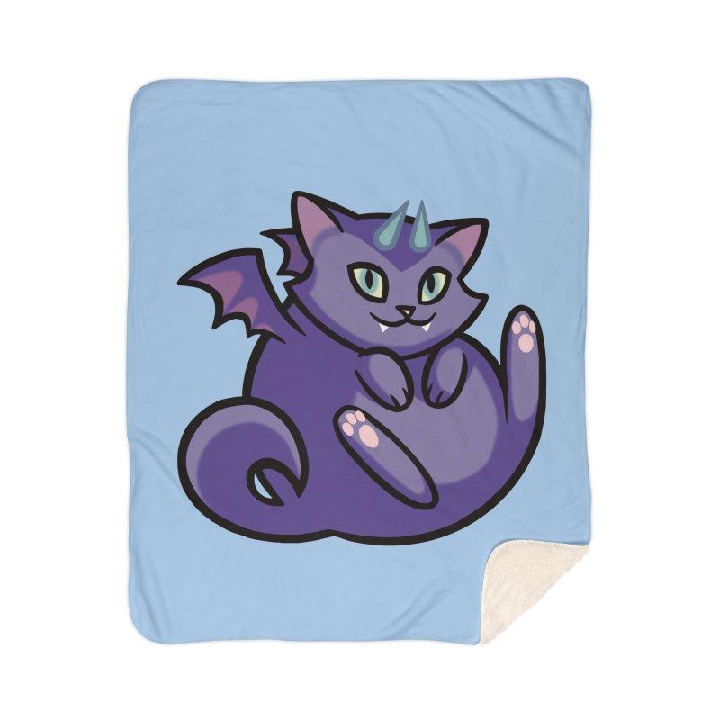Demon Cat Home Blanket by The Art of Mirana Reveier