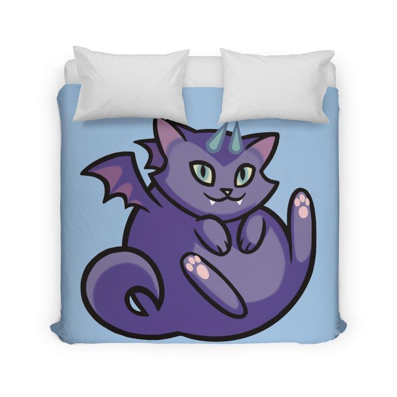 Demon Cat Home Duvet by The Art of Mirana Reveier