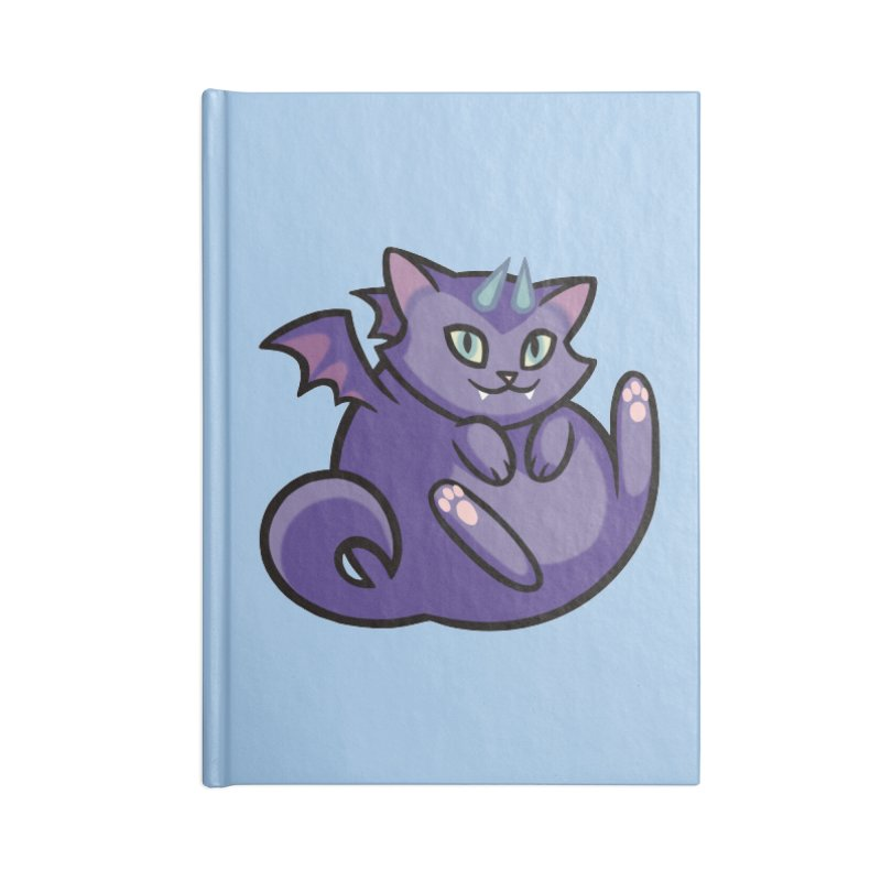 Demon Cat Accessories Lined Journal Notebook by mirana's Artist Shop
