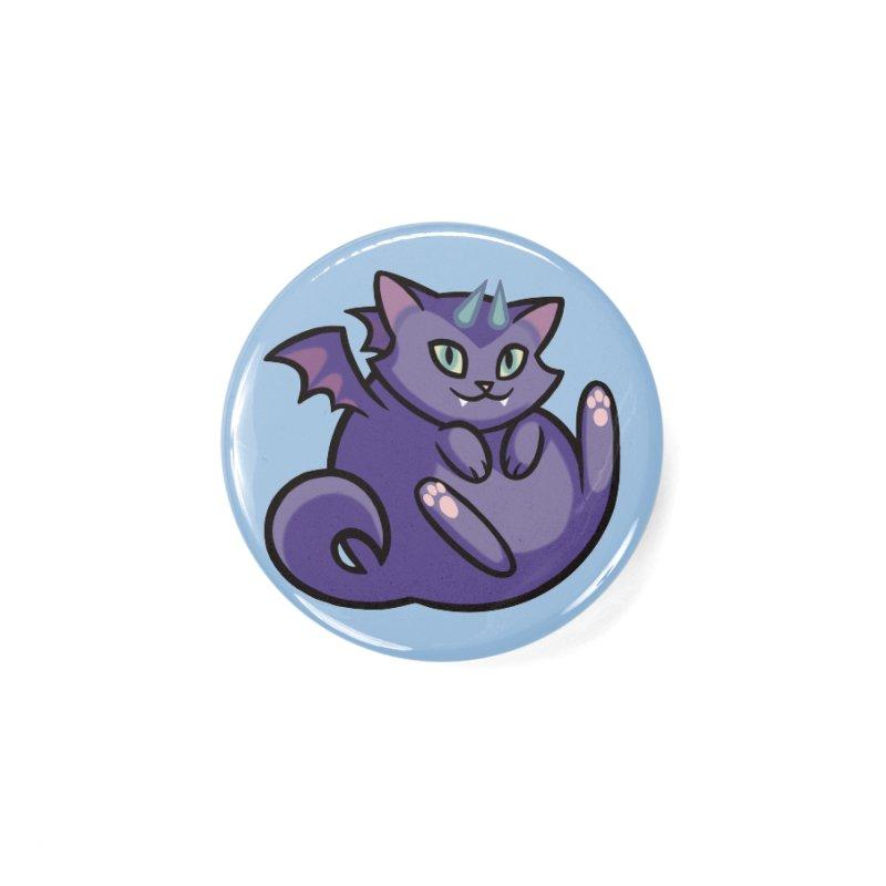 Demon Cat Accessories Button by The Art of Mirana Reveier