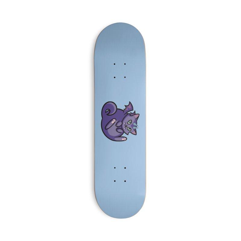 Demon Cat Accessories Skateboard by The Art of Mirana Reveier