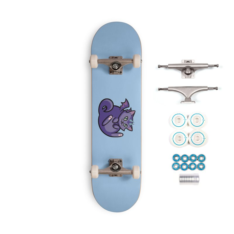 Demon Cat Accessories Skateboard by The Art of Mirana Reveier