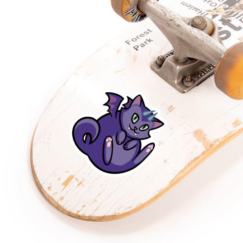Demon Cat Accessories Sticker by The Art of Mirana Reveier