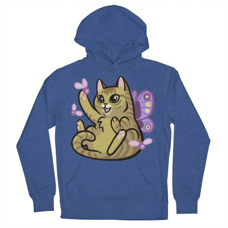 Fairy Cat Men's French Terry Pullover Hoody by mirana's Artist Shop