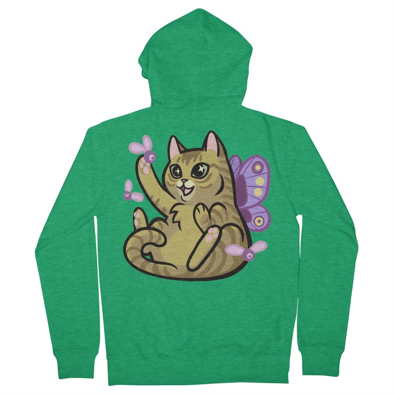 Fairy Cat Men's Zip-Up Hoody by mirana's Artist Shop