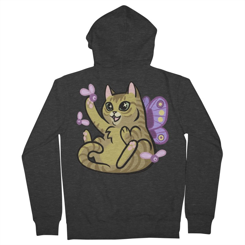 Fairy Cat Men's French Terry Zip-Up Hoody by mirana's Artist Shop
