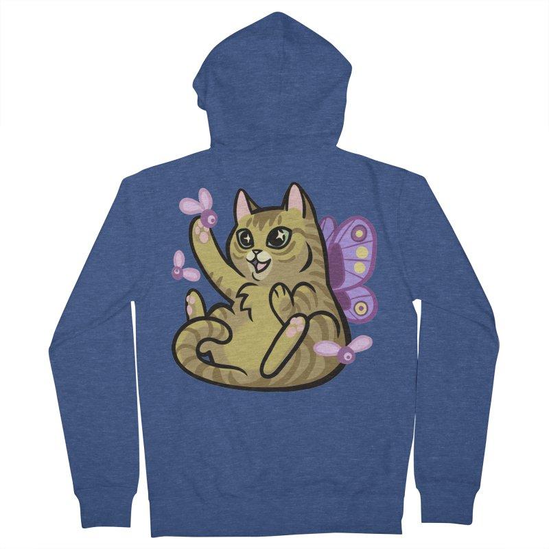 Fairy Cat Men's French Terry Zip-Up Hoody by mirana's Artist Shop