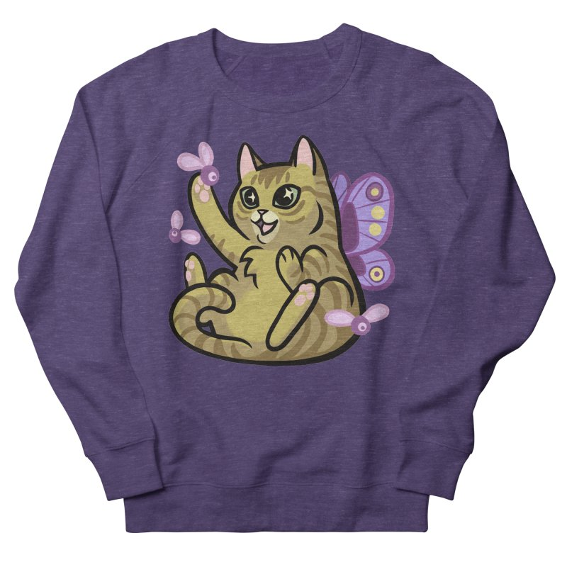 Fairy Cat Men's French Terry Sweatshirt by mirana's Artist Shop