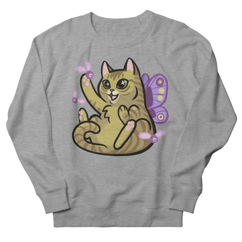 Fairy Cat Men's French Terry Sweatshirt by mirana's Artist Shop