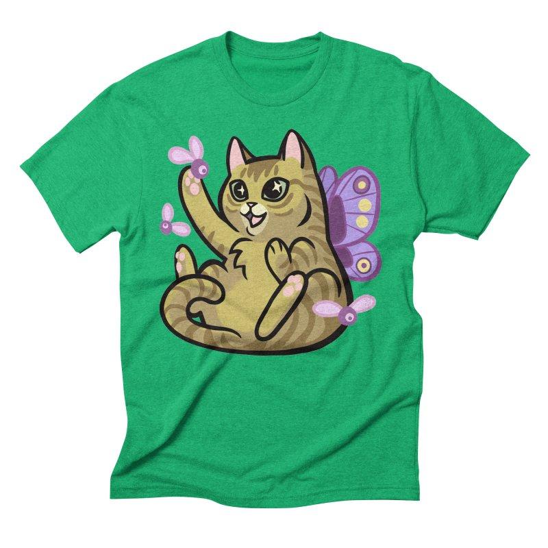 Fairy Cat Men's Triblend T-shirt by mirana's Artist Shop