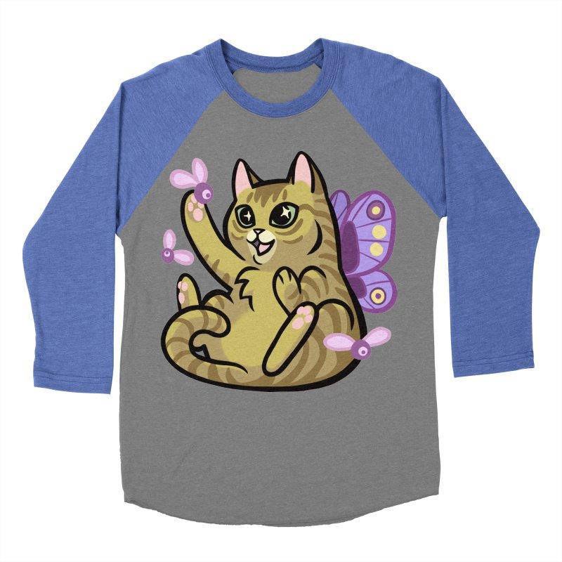 Fairy Cat Women's Baseball Triblend T-Shirt by mirana's Artist Shop