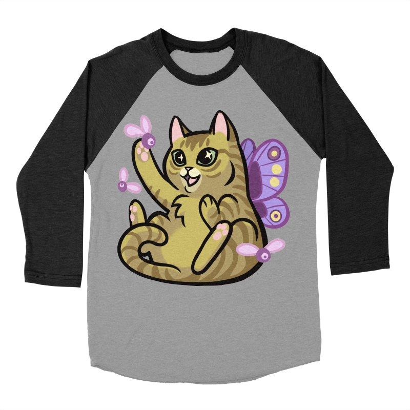 Fairy Cat Women's Baseball Triblend Longsleeve T-Shirt by mirana's Artist Shop