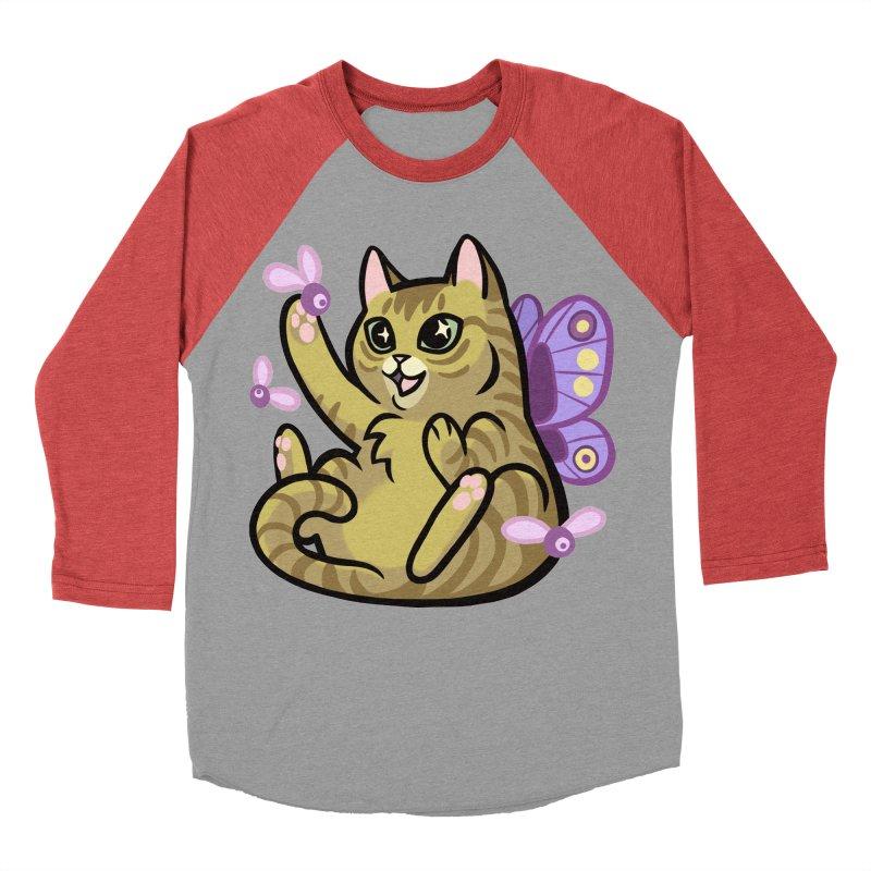 Fairy Cat Men's Baseball Triblend Longsleeve T-Shirt by mirana's Artist Shop