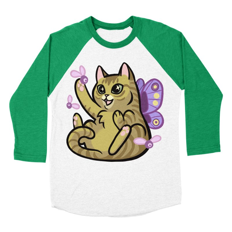 Fairy Cat Men's Baseball Triblend Longsleeve T-Shirt by mirana's Artist Shop