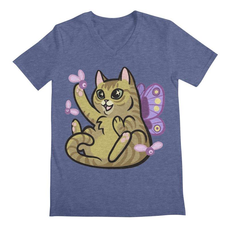 Fairy Cat Men's Regular V-Neck by mirana's Artist Shop