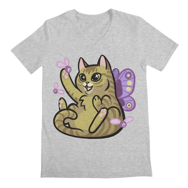 Fairy Cat Men's V-Neck by mirana's Artist Shop