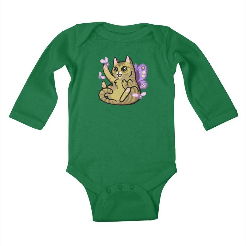 Fairy Cat Kids Baby Longsleeve Bodysuit by mirana's Artist Shop