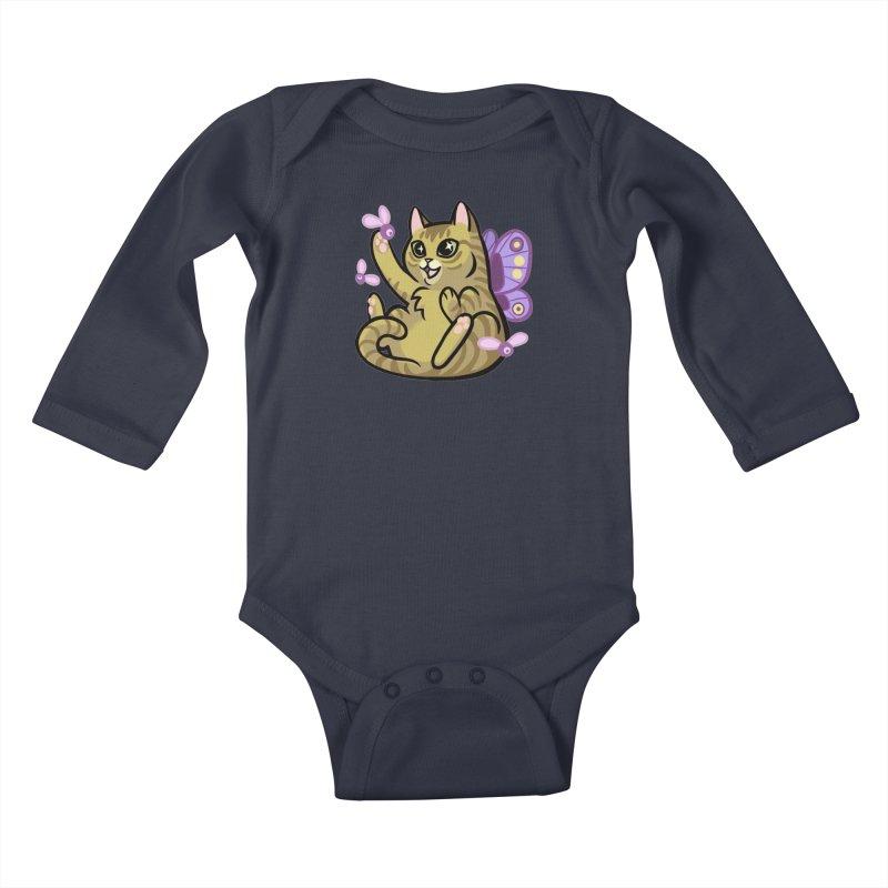 Fairy Cat Kids Baby Longsleeve Bodysuit by The Art of Mirana Reveier