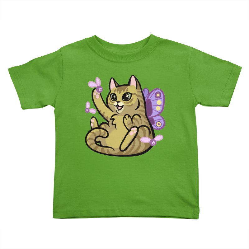 Fairy Cat Kids Toddler T-Shirt by mirana's Artist Shop