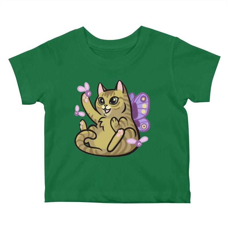 Fairy Cat Kids Baby T-Shirt by The Art of Mirana Reveier