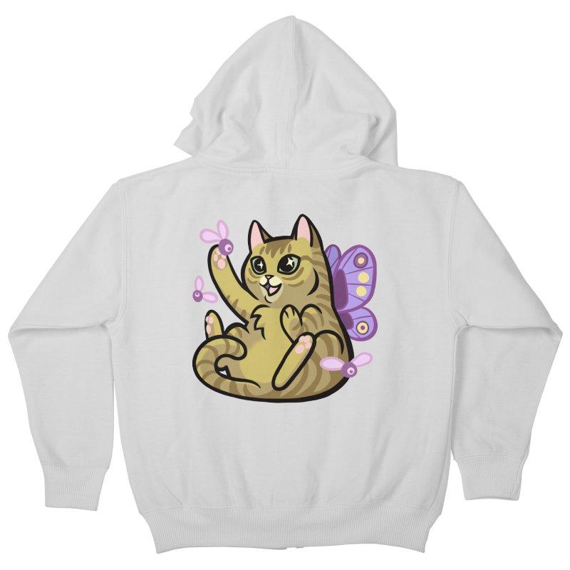 Fairy Cat Kids Zip-Up Hoody by mirana's Artist Shop