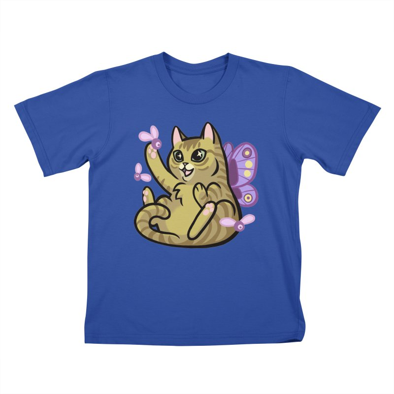 Fairy Cat Kids T-Shirt by mirana's Artist Shop