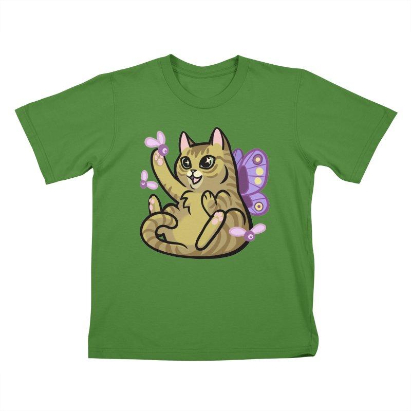 Fairy Cat Kids T-shirt by mirana's Artist Shop